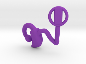 Makies Cochlear Implant: LEFT EAR in Purple Strong & Flexible Polished