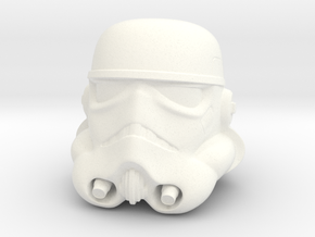 2 Inch Storm Trooper Helmet  in White Strong & Flexible Polished