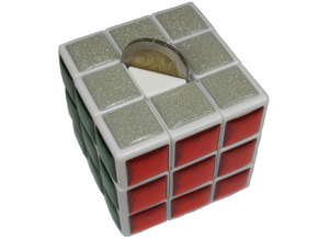 Center for Coin Chest Puzzle in White Strong & Flexible Polished