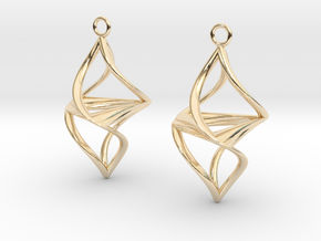 Twister earrings in 14k Gold Plated