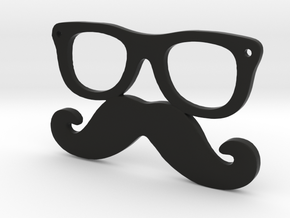 Mustache and glasses in Black Strong & Flexible