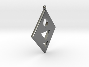 Rhombus Earring in Polished Silver