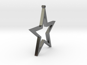 Star Earring in Polished Silver