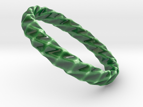 Twistium - Bracelet P=220mm h15 Alpha in Gloss Oribe Green Porcelain