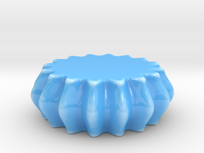 DRAW paperweight - wavy puck solid in Gloss Blue Porcelain