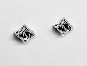 Starlit Studs in Rhodium Plated