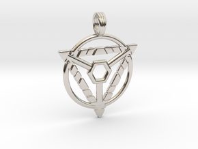MYSTIC TRION in Rhodium Plated