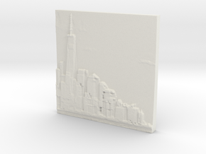 Manhattan Skyline in White Strong & Flexible