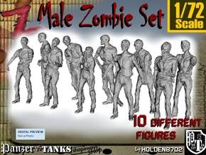1-72 Male Zombie Set in Frosted Ultra Detail