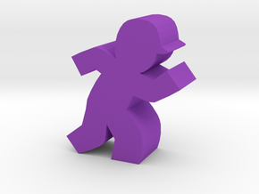 Game Piece, Baseball Runner in Purple Strong & Flexible Polished