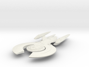 Moss Class BattleCruiser in White Strong & Flexible