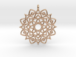 Mandala Pendant in 14k Rose Gold Plated