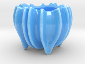 Ocean Form Sugar Bowl in Gloss Blue Porcelain