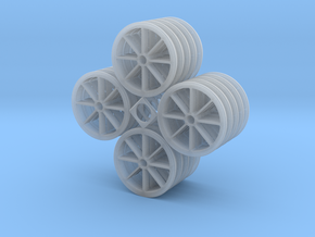 1:32 5x Hawaiian Cane Car Wheels in Frosted Ultra Detail