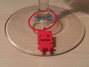 Turbo Buddy Wine Charm in Red Strong & Flexible Polished