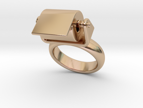 Toilet Paper Ring 20 – Italian Size 20 in 14k Rose Gold Plated