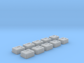 1/24 scale Wall Switch A Set 10 Units in Frosted Ultra Detail