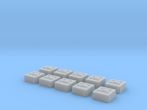 1/24 scale Wall Switch B Set 10 Units in Frosted Ultra Detail