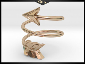 Spiral Arrow Ring - 17.35mm - US Size 7 in 14k Rose Gold Plated