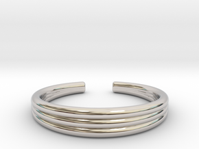 TRIBAND STANDARD 8 RING in Rhodium Plated