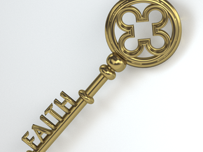 The Key To Faith in Matte Gold Steel