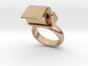 Toilet Paper Ring 23 – Italian Size 23 in 14k Rose Gold Plated