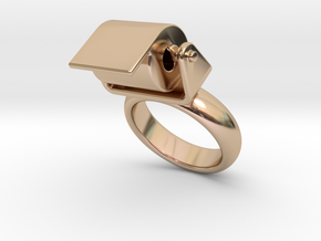 Toilet Paper Ring 28 – Italian Size 28 in 14k Rose Gold Plated