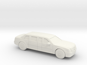 1/87 2009 Cadillac Presidential State Car in White Strong & Flexible