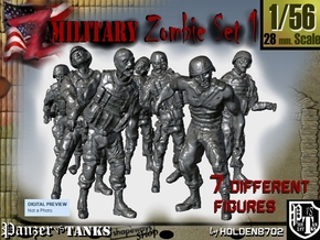 1-56 Seven Military Zombies Set1 in Frosted Ultra Detail