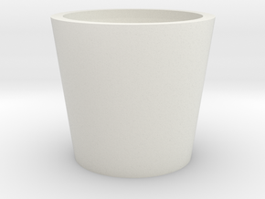 Tiny Stackable Pill Cup in White Strong & Flexible