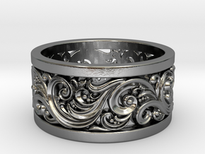 Ornament ring 2 M (Rs 6.5) in Polished Silver