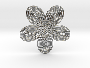 0528 Motion Of Points Around Circle (5cm) #005 in Premium Silver