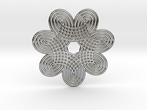 0532 Motion Of Points Around Circle (5cm) #009 in Premium Silver