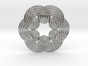 0534 Motion Of Points Around Circle (5cm) #011 in Premium Silver