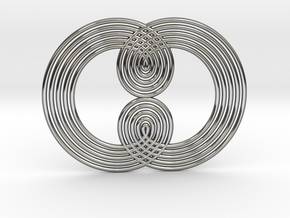 0527 Motion Of Points Around Circle (5cm) #004 in Premium Silver