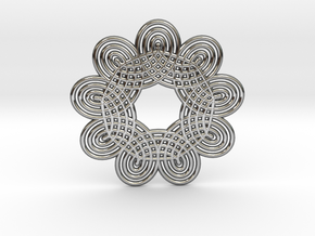 0536 Motion Of Points Around Circle (5cm) #013 in Premium Silver