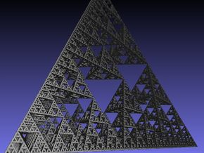 Sierpinski tetrahedron level 7 in White Strong & Flexible