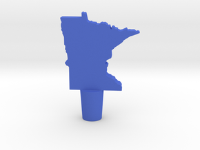 Wine Stopper of Minnesota in Blue Strong & Flexible Polished