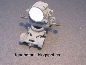 1/144 Flakscheinwerfer German Anti Aircraft search in White Strong & Flexible