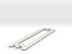 L-165-single-level-crossing-gate-stick-gears-1a in White Strong & Flexible