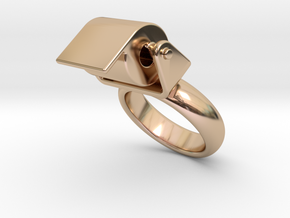 Toilet Paper Ring 33 � Italian Size 33 in 14k Rose Gold Plated