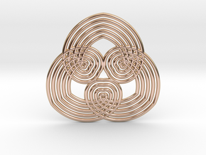 0554 Motion Of Points Around Circle (5cm) #031 in 14k Rose Gold Plated