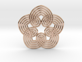 0556 Motion Of Points Around Circle (5cm) #033 in 14k Rose Gold Plated