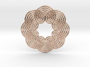 0560 Motion Of Points Around Circle (5cm) #037 in 14k Rose Gold Plated