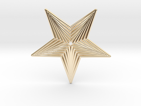 0563 Motion Of Points Around Circle (5cm) #040 in 14k Gold Plated