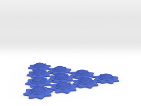Stackable Shield Token 10 Pack X-Wing Miniatures in Blue Strong & Flexible Polished