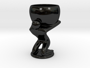 Atlas espresso cup in Gloss Black Porcelain