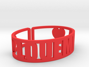 Louemma Cuff in Red Strong & Flexible Polished