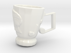 RockStar Hairstyle Tea Cup in Gloss White Porcelain