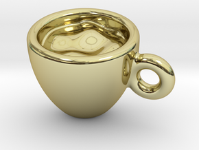 Coffee Cup Earring Or Pendant in 18k Gold Plated